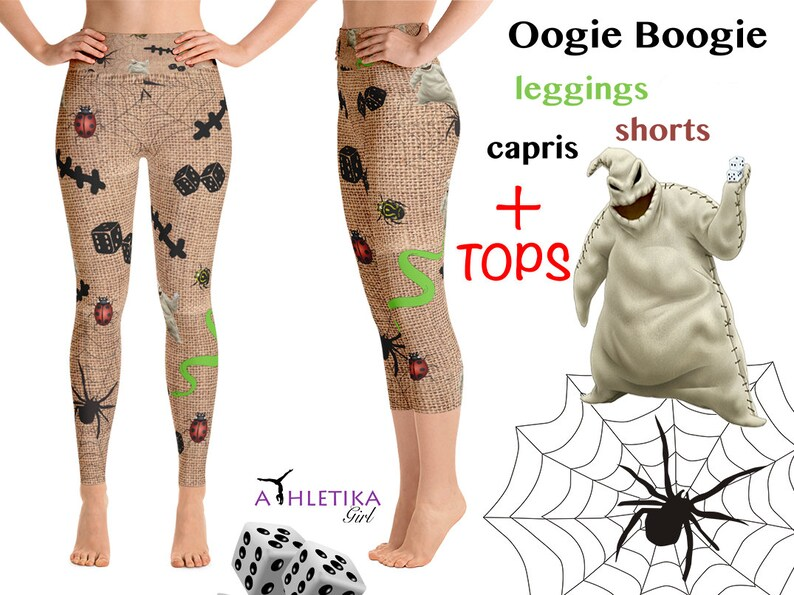 e19b5881ad58a3 Disney Oogie Boogie Halloween Costume Leggings Workout Capri