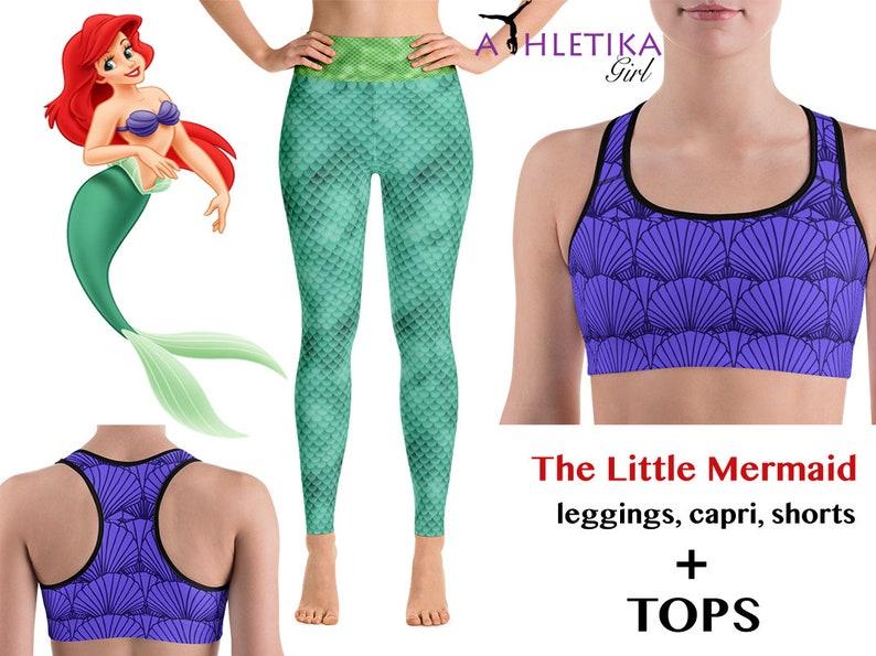 743f3a6901 Disney Princess Ariel Leggings Little Mermaid Set Costume