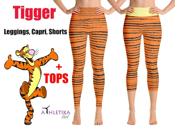 2220aa645bc82 Disney Tigger Tiger Workout Leggings Winnie Pooh Orange   Etsy