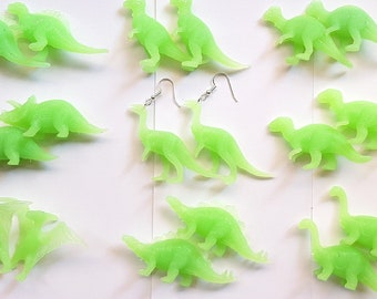 Dinosaur glow in the dark earrings