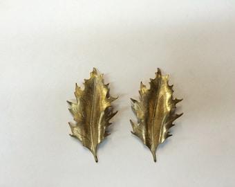 Brass Stamping - Brass Holly Leaf - Set of 2