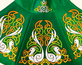 Irish Dance/Skirt/ European Style/Personal Skirt For Irish Dancing/Practice And Competitions/ Celtic/ Svan/ green