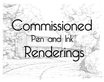 Commissioned pen and ink rendering