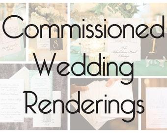 Commissioned Wedding Renderings