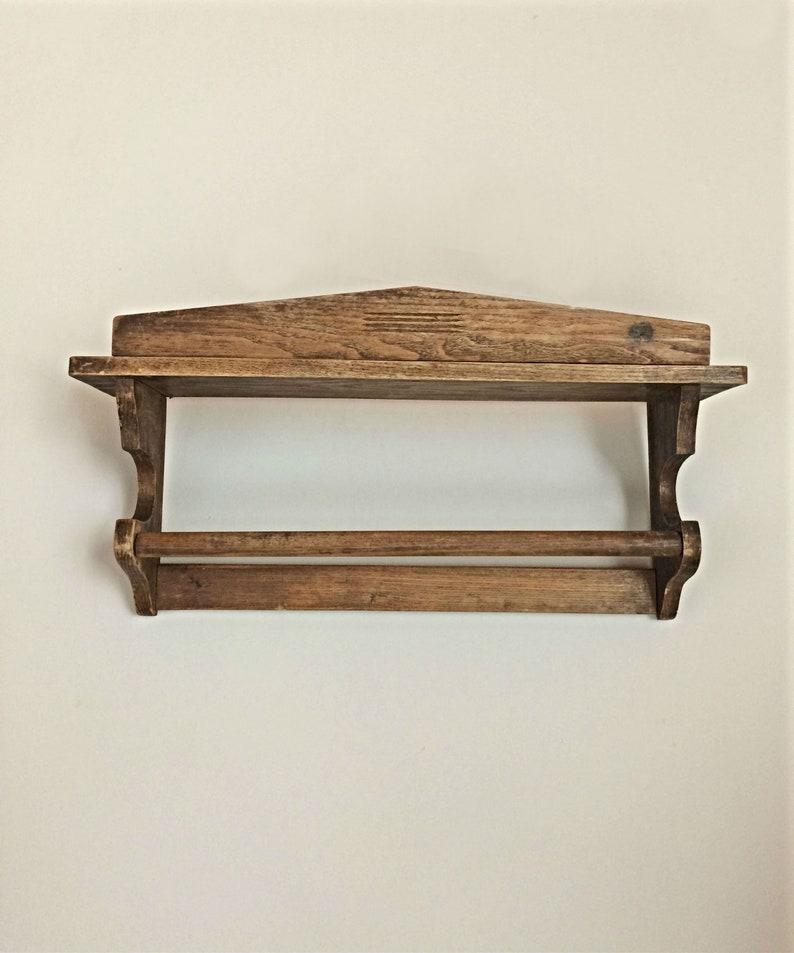 Houten Plank Voor Aan De Muur.Rustieke Houten Wand Plank Handdoek Hanger Houten Plank Hout Etsy
