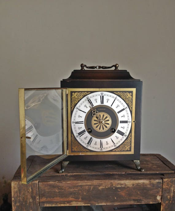 Antique Junghans Kienzle mantel clock Exclusive wooden clock