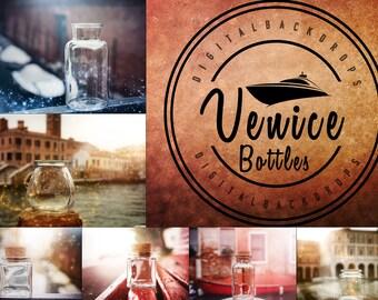 Venice Bottles - 10 digitale Backdrops