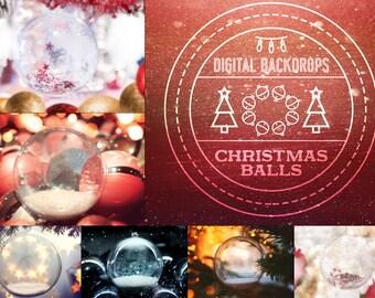 Christmas Balls - 10 digitale Backdrops