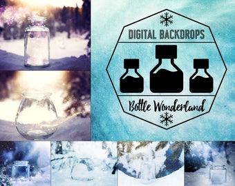 Bottle Wonderland - 10 digitale Backdrops