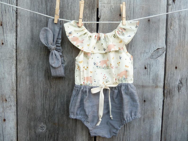 dce671eb188f Boho baby romper Organic baby clothes baby girl gift Summer