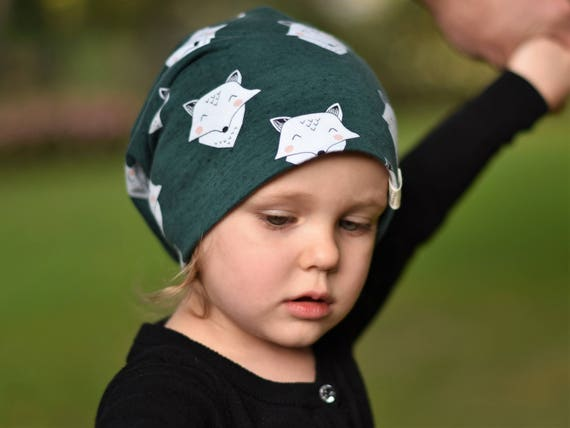 Slouchy baby beanie organic baby hat fox baby clothes  2d136ca87add