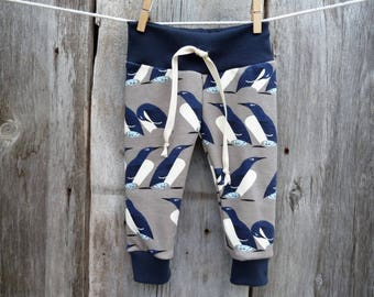 Charley Harper baby clothes, organic baby clothes,  baby boy gift, penguin baby clothes, winter baby clothes, hipster baby clothes, murre