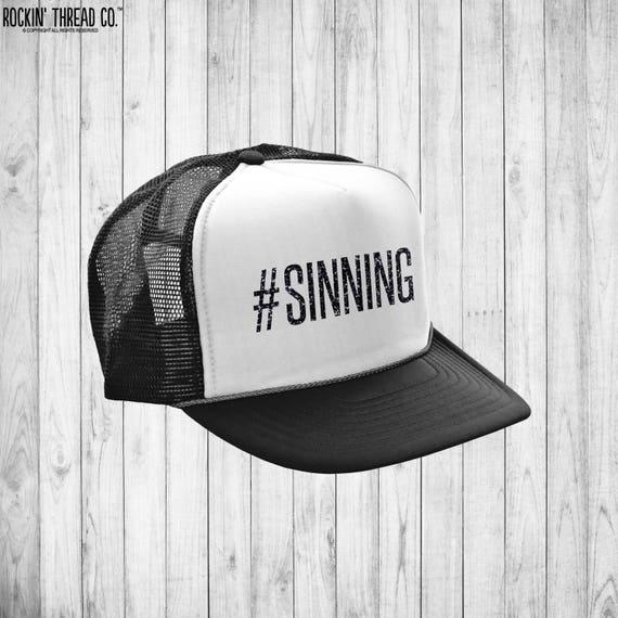 SINNING Trucker Hat Snapback Lid Visor River Party  967bfadf54f