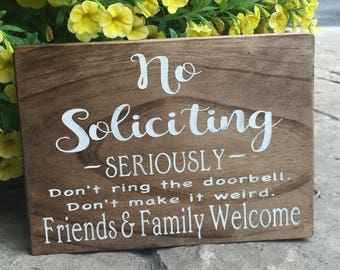 No Soliciting sign,No Solicitors Sign, Outdoor Sign For Store, No Solicitors Welcome, Funny No Soliciting Sign, 8x10 Soliciting