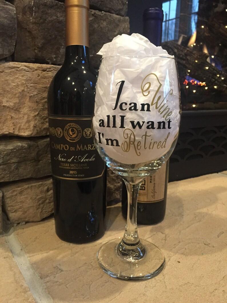 Retirement Gift, Retirement Wine Glass, Retirement Gift for Her, Funny Wine  Glass, Retirement Party Gift