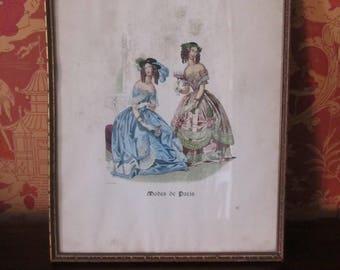 """Color framed print """"Modes de Paris"""""""