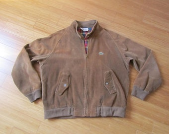 Lacoste Izod striped velvet jacket - Mod. Harrington Jacket - XL - 1980s