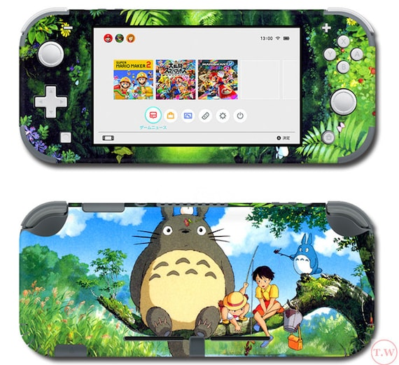 New Totoro Skin For The Nintendo Switch Lite Decal Vinyl Skin Etsy