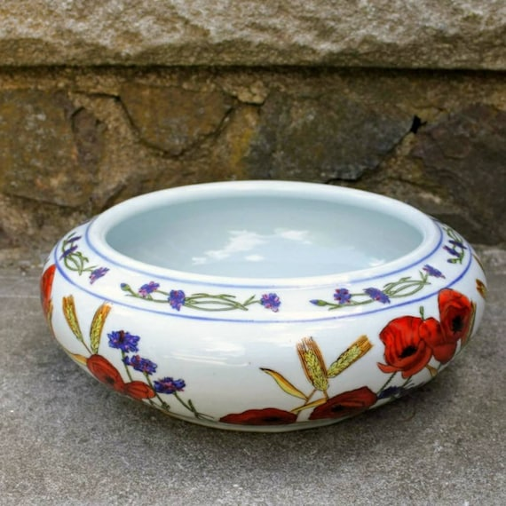Ceramic Planter Chinese Planter Pots For Plants Shallow Etsy