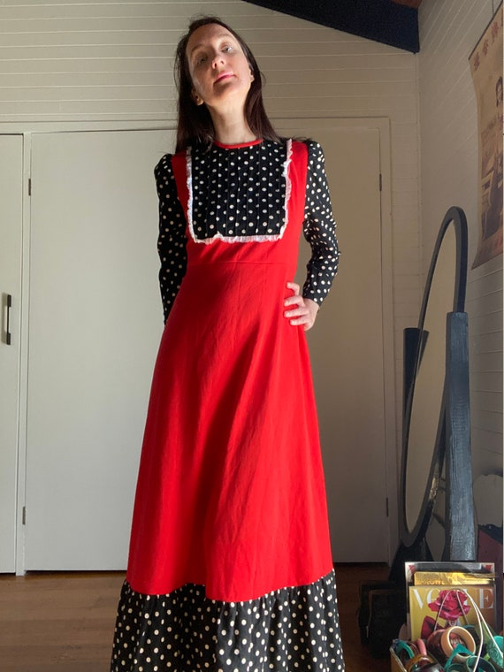 70s Polka Dot Maxi Dress | Gucci Style  | Vampires