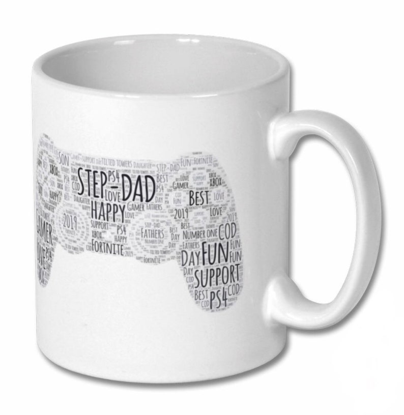 Grandad Photo Mug Personalised Mug Fathers Day Mug Black Grandad Design