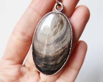 Beautiful Golden Sheen Obsidian Talisman | Handmade Jewelry