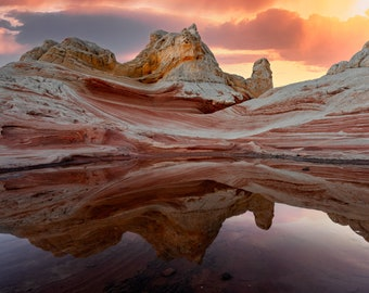 Southwestern Decor ~ Desert Wall Art ~ Desert Landscape ~ Sunset Art Print
