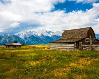Color Photography - Landscape - Wall Art - Decor - Grand Tetons National Park