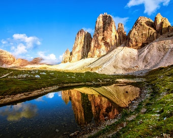 Dolomite Reflections, Fine Art Print, Landscape Photograph, Nature Scene Art Print, Original Mountain Landscape Photograph Print