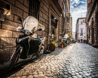 Alley, Fine Art Print, Urban Photograph, City Scene Art Print, Original Rome Urban Photograph Print