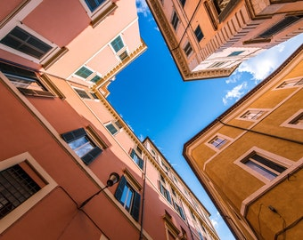 Skylights, Fine Art Print, Urban Photograph, City Scene Art Print, Original Rome Urban Photograph Print