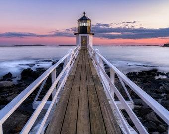 Maine Lighthouse ~ Coastal Wall Art ~ Beach Decor