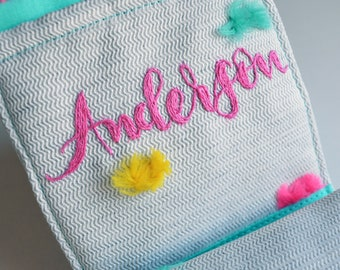 Add On: Customize the Period Kit by Adding a Hand-Embroidered Name
