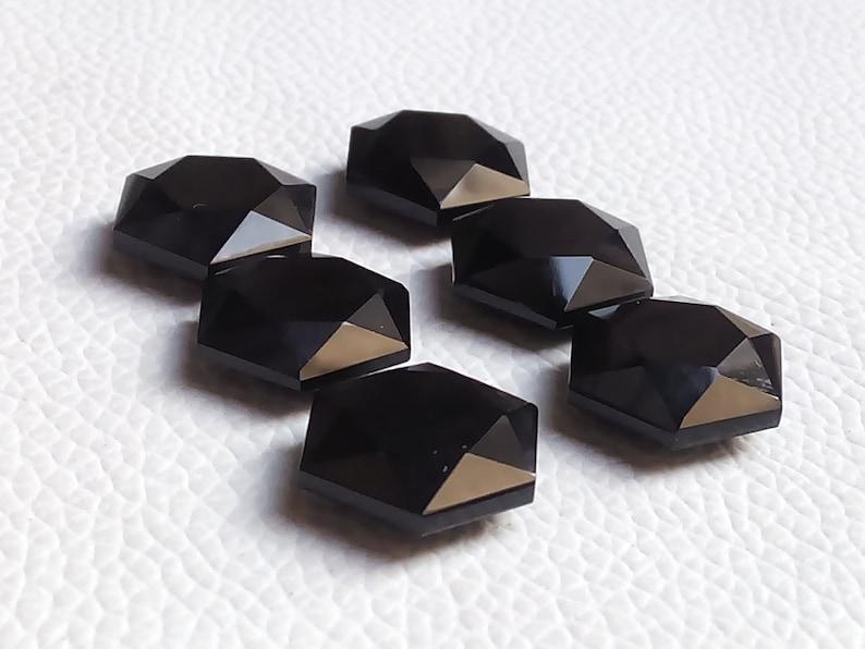 Black Onyx  Jewelry 15x15x6mm 1 Pair  Perfect  Calibrated  Black Onyx  Cabochon ring size stones, Black Onyx  Star Shape  Gem