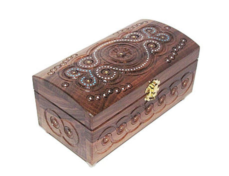 Anniversary Box With Beads Decorative Gift Box Big Wooden Box Bride And Groom Box Bridesmaids Gift Jewelry Organizer Large Gift Boxes