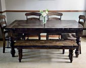Reclaimed Hand Hewn Barn Beam Tables