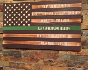 Soldiers Creed Etsy