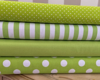 quilting fabric pink green flowers sold by the yard Floral pink lime green cotton broadcloth coordinates stripes