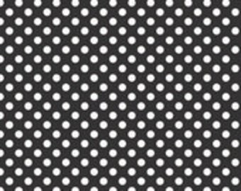 Riley Blake Small Dots, White on Black, fabric by the yard