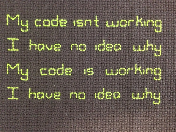 Programming Computer Code Cross Stitch Pattern Quick And Easy Etsy Best How To Make Cross Stitch Patterns On Computer