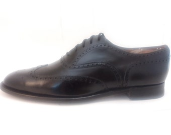 Church 9.5 D Black Men's Wing Tip Balmoral Classic Brogue all Leather English Dress Oxford. Happy Pre-owned Shoe Customers Since 2008!