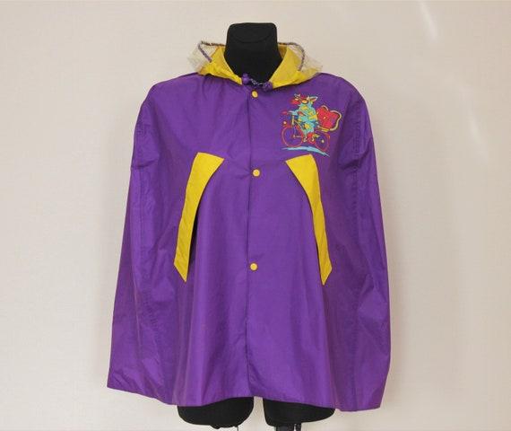 Vintage Rain Coat Kids Rain Coat Unisex Rain Coat