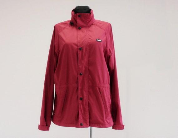 Frei Dunkel Windbreaker Tasten Womens Farbe H2o Sportswear Zeit Jacke Vorderseite Größe Rot Reißverschluss Auf Der Outdoor Snap 7If6yvYbg