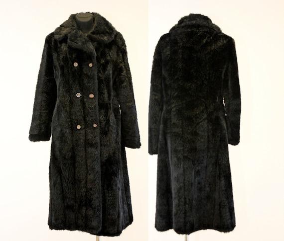 Faux Fur Coat Women S Vintage Shiny, Large Size Faux Fur Coats