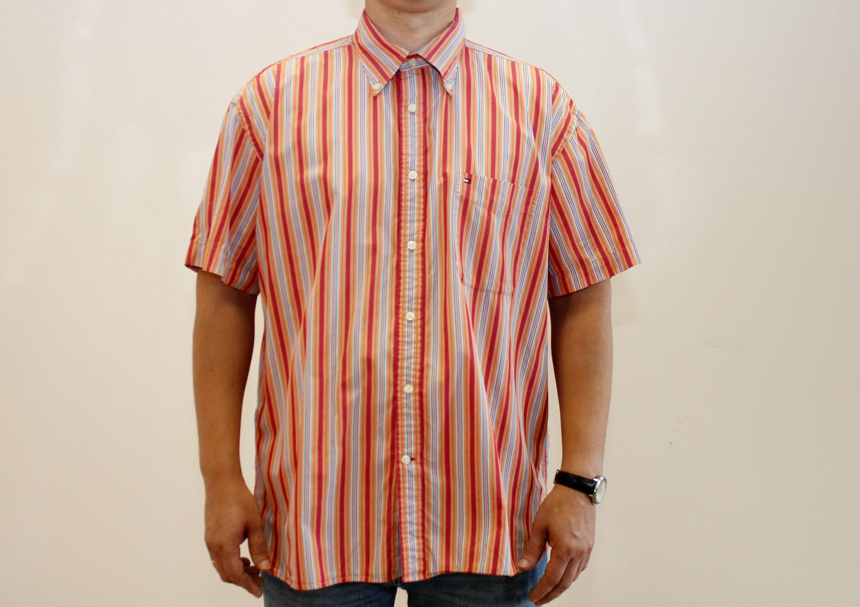ef38767d Vintage Tommy Hilfiger Shirt Mens Shirt Short Sleeves Shirt | Etsy