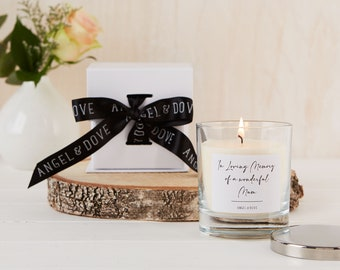 In Loving Memory of a Wonderful Mum - Gift Boxed Remembrance Candle with Silver Lid