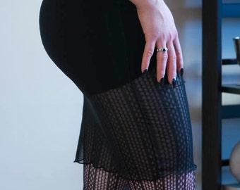 ae1b1f46a70c18 Gothic Mesh Skirt / Black Fishnet Pencil Skirt / Nu Goth Clothing / Gothic  Sexy Stretch Net Skirt / Isis High Waist Mesh Pencil Skirt