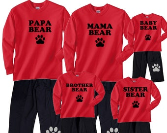 e2c54f0a9c Family Matching Pajamas Cabin Mountain Retreat PJs for the