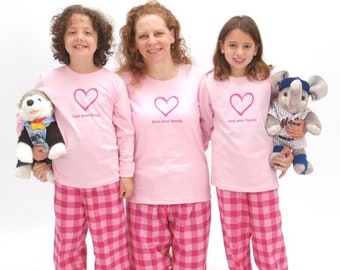 2b96d701b0 Mother Daughter Pink Bubblegum Pajamas - Matching Family Pajamas forWomen  and Playwear for Girls and Baby