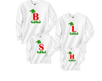5c99bd0f7b Big Letter Christmas Holiday Elf Tops for the Whole Family - FREE Shipping